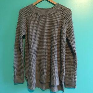 Long Waffle Knit Sweater